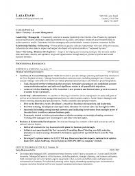 Manager Objective Resume For Career Profile With Professional