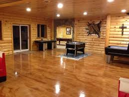 Image Concrete Brown Epoxy Floor In Basement Black Rhino Floors Basement Floor Coatings Basement Floor Epoxy Basement Floor Sealer