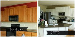 painting kitchen cabinets white and aft safe home cupboards painted before after paint desjar interior charles