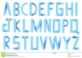 Types Of Light Blue Soft Blue Rounded Corner Strips Vector Font Design Stock