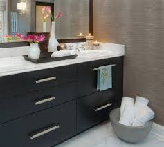 Dark Wood Bathroom Accessories Grasscloth Wallpaper Bathroom Transitional With Dark Wood Vanity