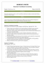 Insurance Coordinator Resume Samples Qwikresume