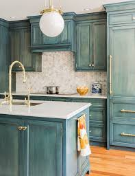 23 Gorgeous Blue Kitchen Cabinet Ideas | Camping Kitchen | Blue ...