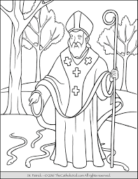 Saint Patrick Coloring Page The Catholic Kid