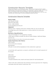 Construction Supervisor Resume Examples And Samples New Retail
