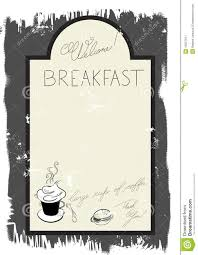breakfast menu template template for breakfast menu royalty free stock photography image
