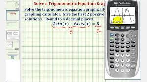 ex solve a trigonometric equation using a graphing calculator