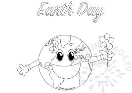 Small Picture Earth Day Coloring Page