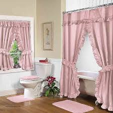 shower curtain and window valance set fresh rose pink double swag shower curtain