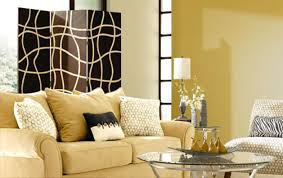 Yellow Paint For Living Room Living Room Yellow Paint Idea With White Fabric Hexagon Pattern