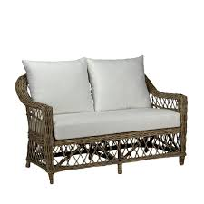 Cedros 2 <b>Seat Sofa</b> Natural <b>Kubu</b> Grey   INTERIORS ONLINE