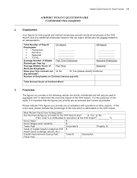 Sample Employee Questionnaire Appendix I Sample Questionnaire For Tenant Surveys Guidebook For