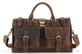 katavi kenya vintage style genuine leather travel duffel bag