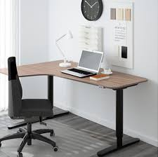 l shaped desk ikea.  Shaped Bekantcornerdeskleftsitstandgray On L Shaped Desk Ikea N