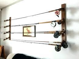 fishing pole wall rack fishing pole wall rack rod mount ideas storage holder plans fishing pole