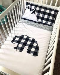 bear mountain crib bedding bear buffalo