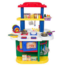 Play Kitchen Deluxe Children Kitchen Cooking Pretend Play Set With Accessories
