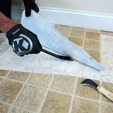 removing vinyl tile how
