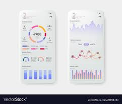 Modern Mobile Statistics Graphs And Finance Charts