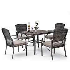 pamapic 5 piece patio dining set