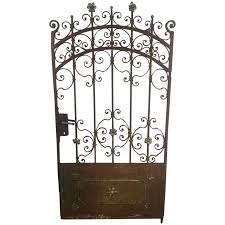 decorative french beaux arts wrought iron garden gate for