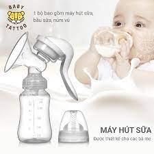 Máy hút sữa và bình sữa 2 trong 1 cho mẹ và bé tiện lợi, an toàn – BABY  TATTOO