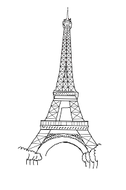 Small Picture Free Printable Eiffel Tower Coloring Pages For Kids