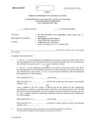 forms of ownership alberta foreign ownership declaration form 1 forms and
