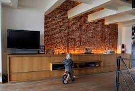 to integrate exposed brick walls into