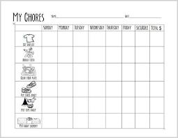 Free Printable Chore Chart For Preschoolers