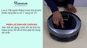 Hướng dẫn vệ sinh Robot hút bụi lau nhà Robotek W600 Wifi - YouTube
