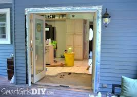 patio door installation center swing doors cost to install french exterior how frame a