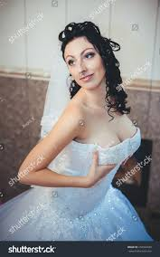 Nude Bride Striptease Beautiful Girl White Stock Photo 250942429.
