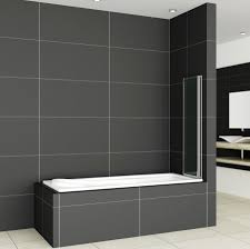 folding chrome bath shower screen bathroom glass door panel bath screen sim