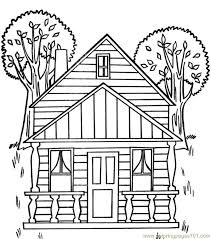 Small Picture Tree house Coloring Page Free Houses Coloring Pages