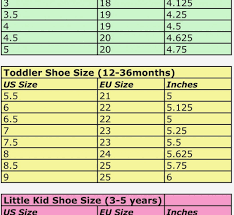 Stride Rite Measuring Chart Baby Shoe Inches Online Charts Collection
