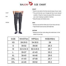 Baleaf Mens Athletic Running Pants Jogging Track Sweatpants Tapered Leg Black Size M