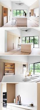 Light Wood Kitchen Cabinets Modern Light Wood And White Countertops Create A Neutral Softness