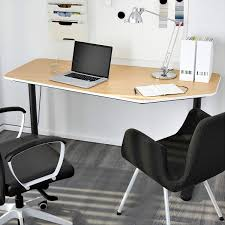 custom standing desk kidney shaped mid. IKEA Bekant 5-sided Desk For Office Custom Standing Kidney Shaped Mid N
