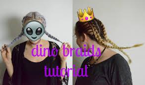Braids Hairstyles Tumblr Dino Braids Hair Tutorial Youtube