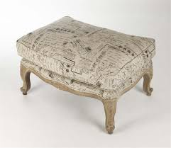 French Ottoman french country literary script linen club chair ottoman kathy 7271 by xevi.us
