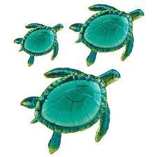 sea turtle wall art decor 3 pack large