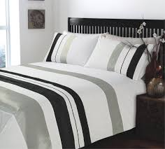 beautiful duvet covers king size for your bedding decor ripple and plain stripe grey and