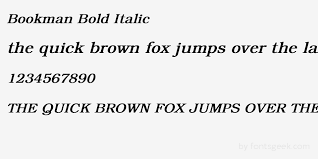 preview your text in bookman bold italic