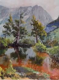 australian outback albert contemporary landscape painting australia namatjira watercolours of the australian outback contemporary art