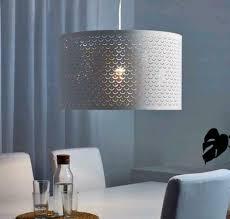 Ikea Nymöl Pendelleuchte Lampenschirm Weiß Und Messing 59cm