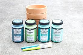 outdoor acrylic paints learn how to make paint dipped gold speckled pots outdoor acrylic