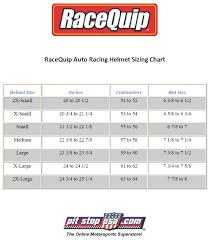 Racequip Helmet Size Chart Sizing Chart Racequip Auto Racing Helmets