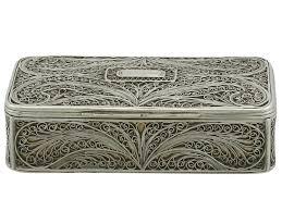 antique victorian sterling silver filigree box