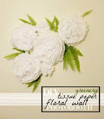 diy tissue paper flower wall with greenery for photo backdrop party decor celebrateallsummer
